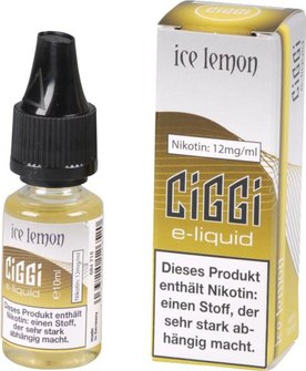 Ciggi E-Liquid Ice Lemon