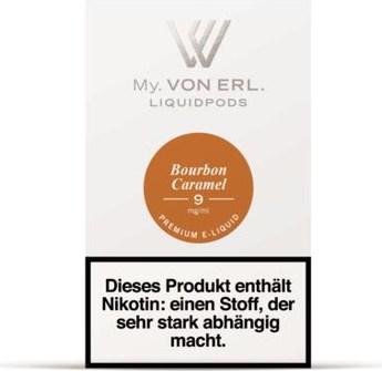 von Erl my E-Liquid Podpack Bourbon Caramel 0,9mg