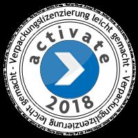 Verpackungslizenzierung Stempel 2018 von activate reclay