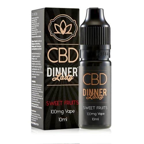 Diinerlady 10ml 100mg CBD Sweet Fruits Carton & Bottle