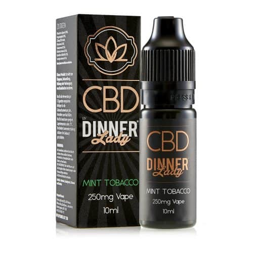 Dinnerlady 10ml 250mg CBD Mint Tobacco Carton & Bottle