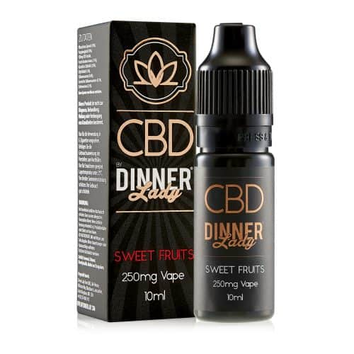 Dinnerlady 10ml 250mg CBD Sweet Fruits Carton & Bottle