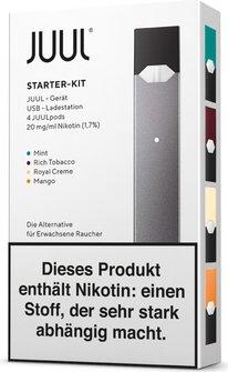 Juul E-Zigarette Starterkit schwarz-verpackung