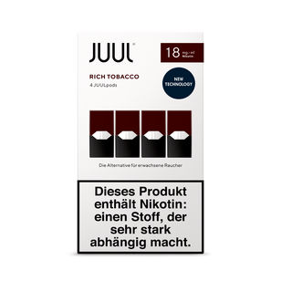 Juul Podpack Rich Tobacco-verpackung-18mg