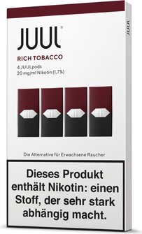 Juul Podpack Rich Tobacco-verpackung