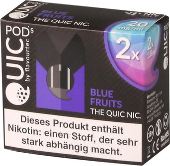 quic-one-podpack-1,8ml-blue-fruits-20mg-nikotinsalz-verpackung