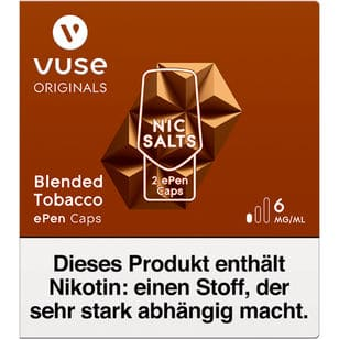 Vuse ePen Caps Blended Tobacco 6mg