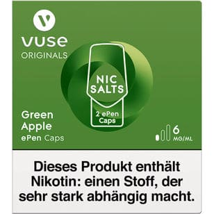 Vuse ePen Caps Green Apple 6mg