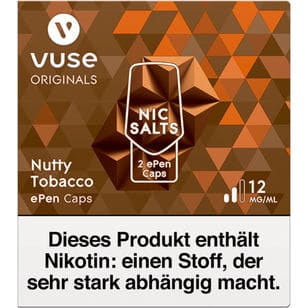 Vuse ePen Caps Nutty Tobacco 12mg