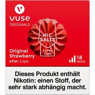 Vuse ePen Caps Original Strawberry 18mg