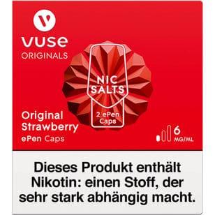 Vuse ePen Caps Original Strawberry 6mg