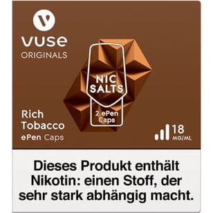 Vuse ePen Caps Rich Tobacco 18mg
