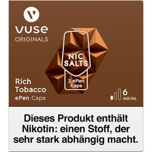 Vuse ePen Caps Rich Tobacco 6mg